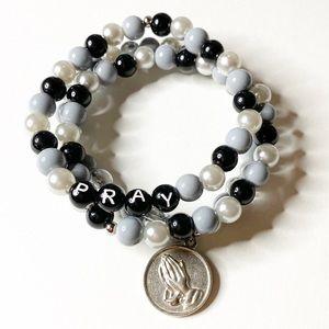 Prayer Bracelet, Prayer Beads, Beaded Bracelet Set